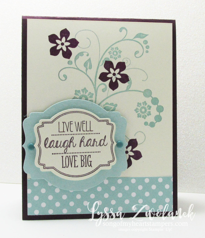 Live laugh love stampin up card wedding anniversary
