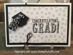 Grad gift card black and white