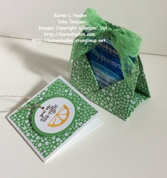 Tea bag holder and gift card