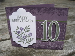 Plum numbered anniversary