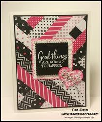 Scap card pop of pink serene stamper