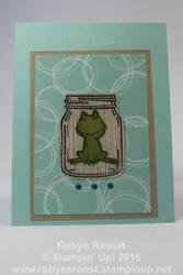 Card 471 frog in a jar tall