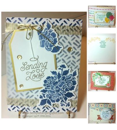 Designer tin of cards collage