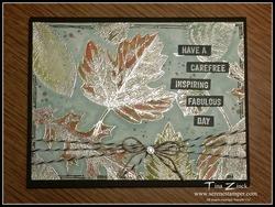 Vintage leaves serene stamper