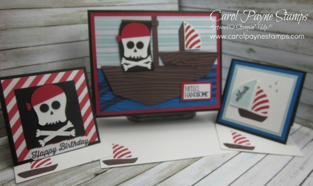 Stampin up gift card envelope pirate ship carolpaynestamps 1