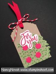 Apple tree gift tag