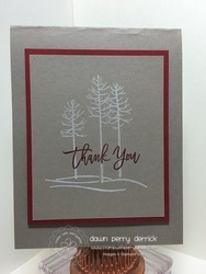 White trees card
