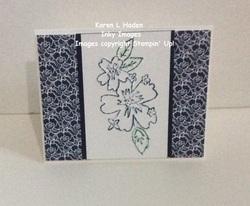 Embossed floral card