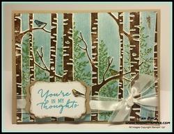 Woodland embossing folder serene stamper