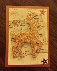 Gold reindeer atc  1
