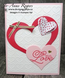 Valentines card hearts
