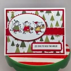 Merry mice christmas card