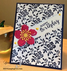 Birthday diagonal slash card