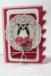Sent with love valentine card tall