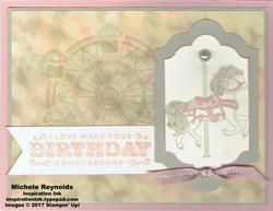 Carousel birthday lovely horse watermark