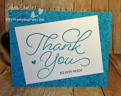 Thank you card tempting turqouise blog