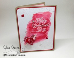 Watercolor valentine front