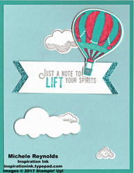 Lift me up balloon and clouds watermark