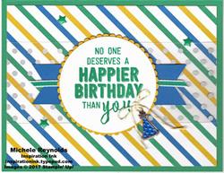 Balloon adventures birthday stripes watermark