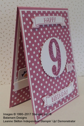 Birthday card   with gift card pocket