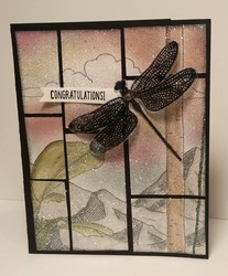 Glitter grid dragonfly tina zinck