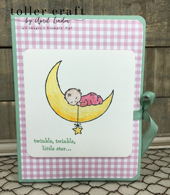 Moon baby thank you card book