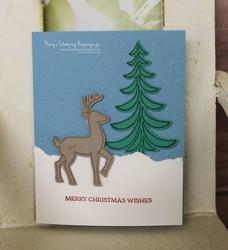 Santa s sleigh christmas card 2a