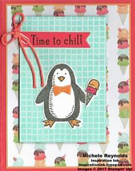 Snow place ice cream penguin watermark