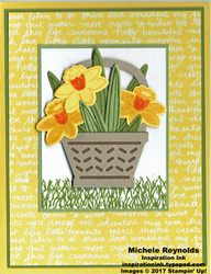 Basket bunch daffodils basket watermark