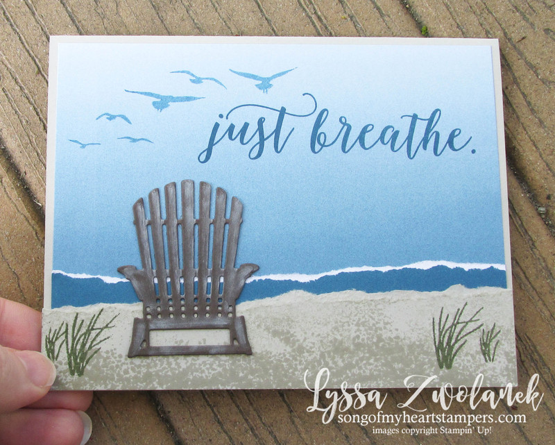 Color theory beach seaside lakeside shore adirondack chair ombre painter s swatch colors stampin up sizzix