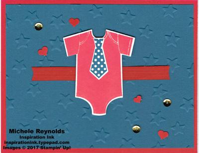 Something for baby tie onesie watermark