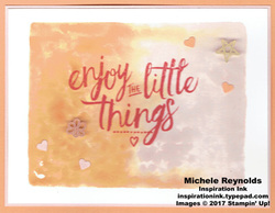Layering love little things watercolor block watermark