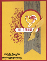 Wood words rooster friend watermark