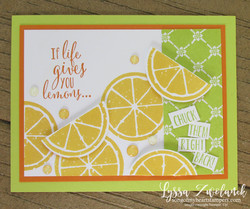 Lemon zest builder punch bundle stampin up lyssa lime orange if life gives lemons