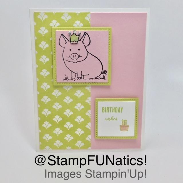 Piggy birthday card