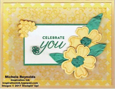 Birthday blossoms ribbon center flowers watermark