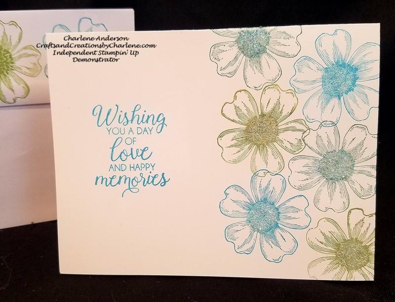Flower glitter card