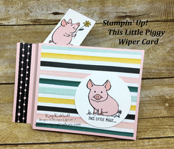 134 this little piggy wiper card