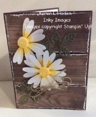 Daisy wood card vertical