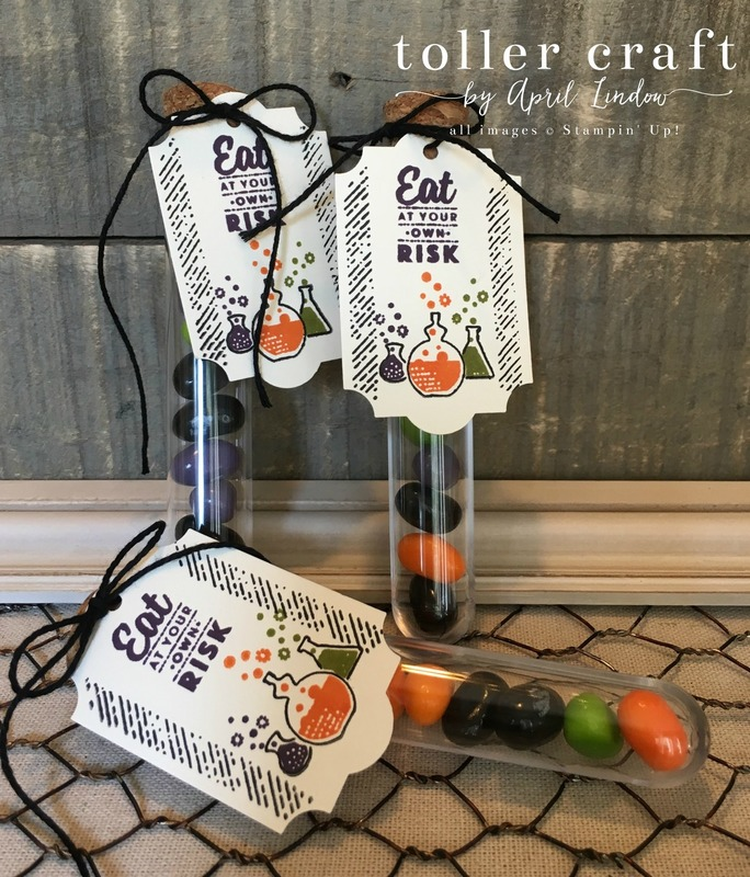 Halloween treat tubes
