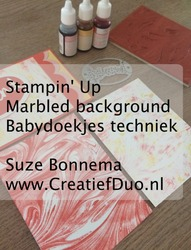 Babydoekje marbled background