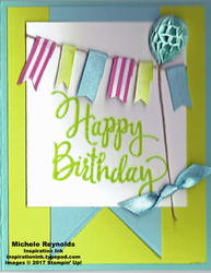 Stylized birthday ribbon banner watermark