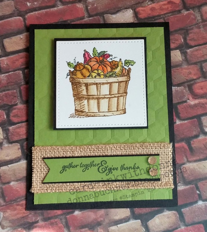 Stampin up basket of wishes thanksgiving