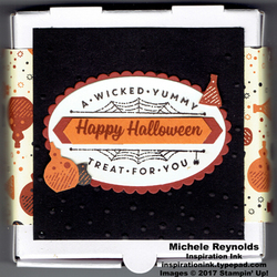 Spooky cat mini pizza box treat watermark