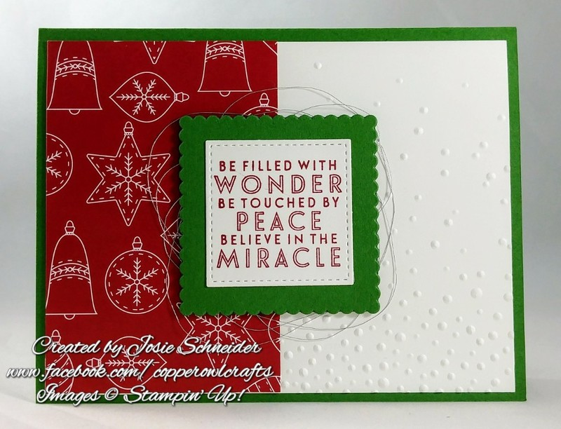 Traditional Christmas Card Featuring Annual Catalog | TheseAreMyStamps