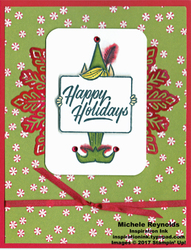 Festive phrases feathery elf wishes watermark