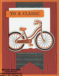 Bike ride classic bike banner watermark