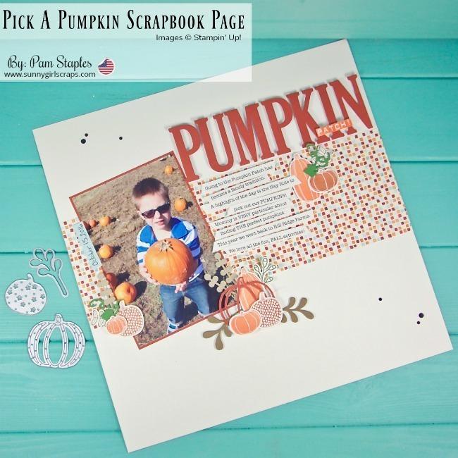 Pick a pumpkin pumpkin patch scrapbook page by sunnygirlscraps
