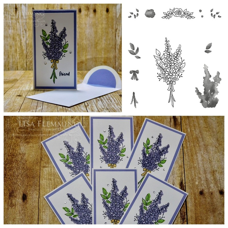Lots of lavender narrow note cards   envelopes