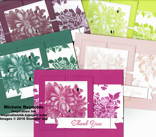 Heartfelt blooms in color squares watermark